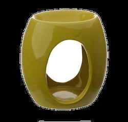 Abstract ovala utskärningar, grön Aromalampa