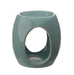 Abstract ovala utskärningar, blå Aromalampa