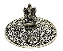 Ganesha metallfat Rökelsehållare