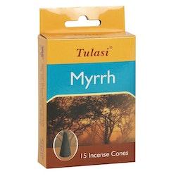 Myrrh, rökelsekoner, Tulasi