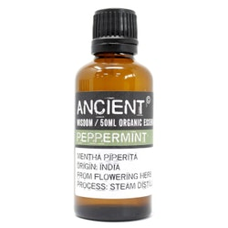 Pepparmint Organic, Peppermint, Eterisk Olja, Ancient Wisdom, 50ml