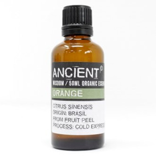 Apelsin Organic, Orange, Eterisk Olja, Ancient Wisdom, 50ml