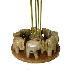 Elefant cirkel rökelsehållare, Täljsten