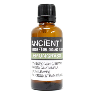 Citrongräs Lemongrass Organic Eterisk Olja, Ancient Wisdom, 50ml