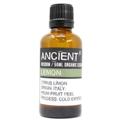 Citron, Lemon, Organic Eterisk Olja, Ancient Wisdom, 50ml