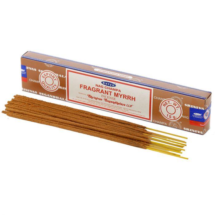 Fragrant Myrrh, rökelse 15 g, Satya