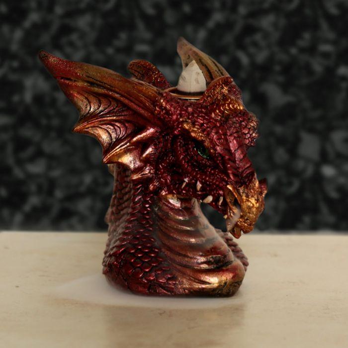 Drakhuvud, Backflow Rökelsebrännare Röd