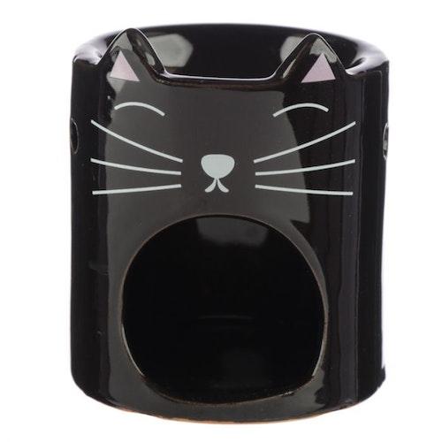 Feline Fine katthuvud, svart Aromalampa