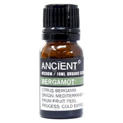 Bergamot Organic Eterisk Olja, Ancient Wisdom, 10ml