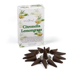 Citronella Lemongrass, rökelsekoner, Stamford