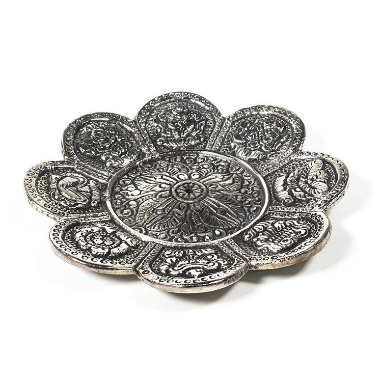 8 buddhistiska auspicious tecken rökelsehållare, Metall