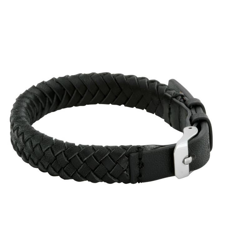Leather bracelet, clasp, brown