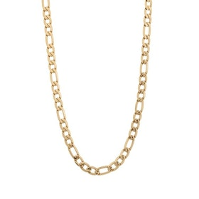 Necklace, figaro, gold