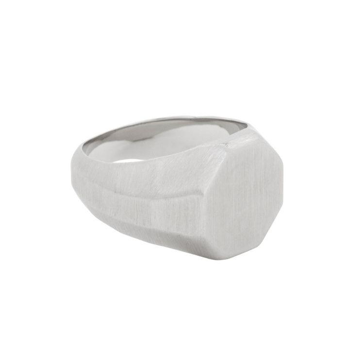Signet ring, raw, silver