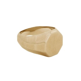 Signet ring, raw, gold