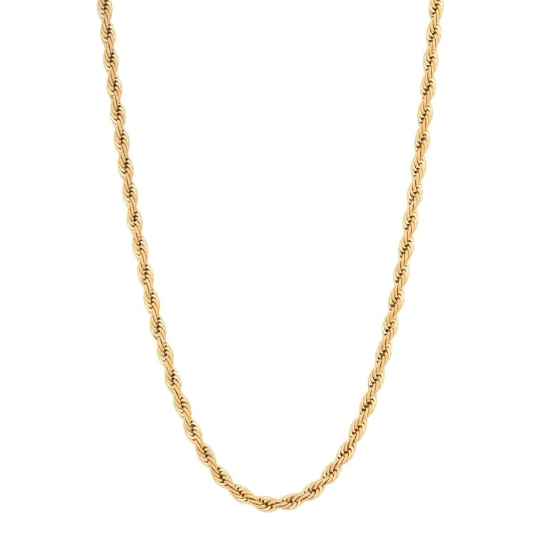 Necklace, twisted, gold