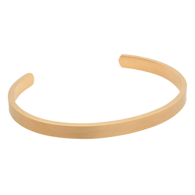 "Steel bracelet, Cuff ""Live Passionately"", gold"