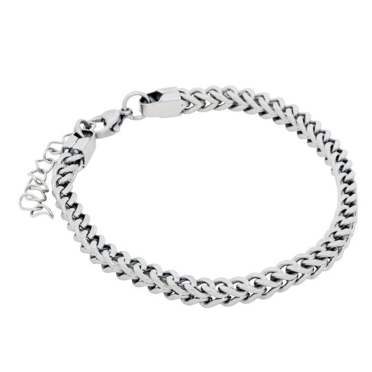 Stålarmband silver kedja