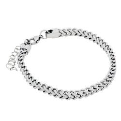 Steel bracelet, chain, silver