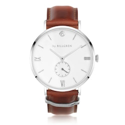 Gustaf watch, white/brown