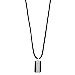 Leather necklace, pendant steel