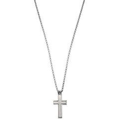 Halsband, kors, stål