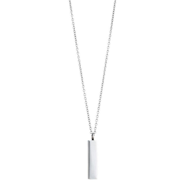 Necklace, pendant matte/shiny, steel