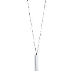 Halsband, hänge matt/blank, stål