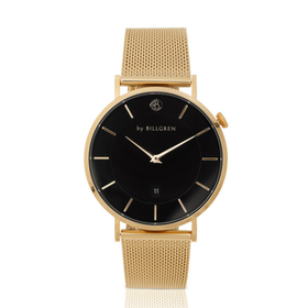 Douglas Watch, Gold Mesh, black