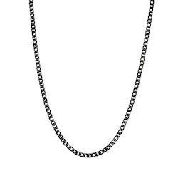 Necklace, chain, black