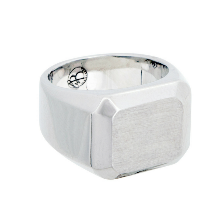 silver marble ix signet frederik hexagon product ring green