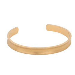 Bracelet, concave cuff, gold