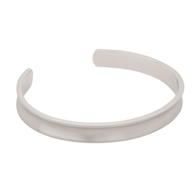 Armband, konkav cuff, silver