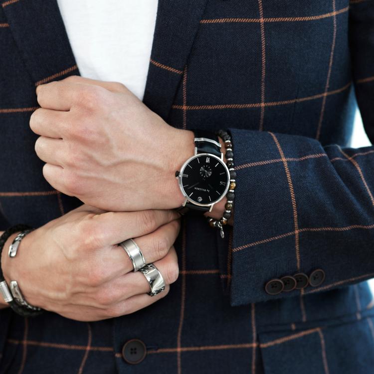 Gustaf Watch, black/black