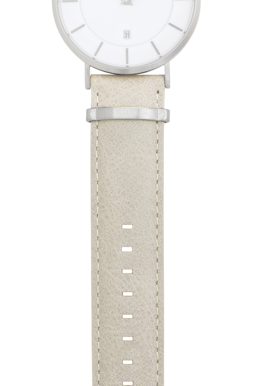 Watch strap, leather, sand