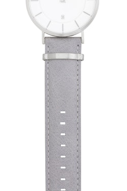 Watch strap, leather, grey