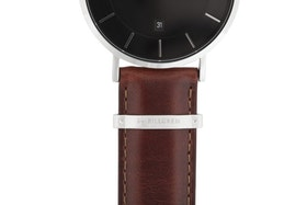 Watch strap, leather, brown