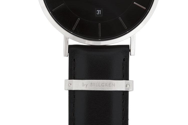 Klockarmband Läder, svart