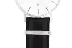 Watch strap, leather, black