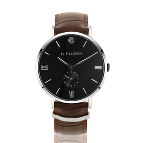 Gustaf Watch Croco, black/brown