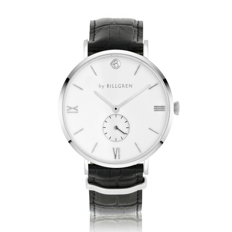 Gustaf Watch Croco, white/black