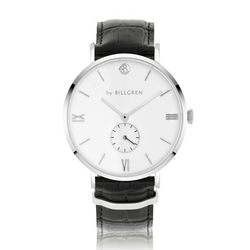 Gustaf Watch Croco, white/black