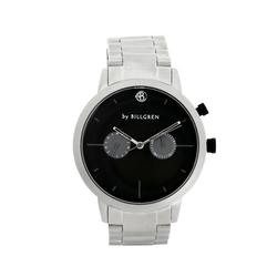 Malcolm Watch, black/steel