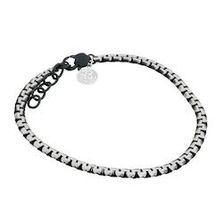 Steel bracelet, link, black
