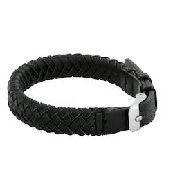 Läderarmband, spänne, svart