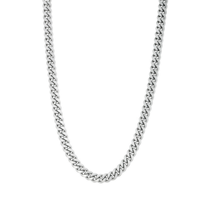 Necklace, chain/steel, silver