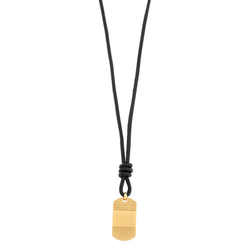 Necklace, pendant, black/gold