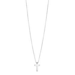 Halsband, litet kors, silver