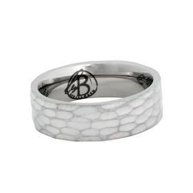 Ring, hamrad, silver