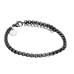 Steel bracelet, dark grey/silver